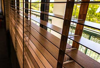 Motorized Faux Wood Blinds in Universal City | Motorized Blinds & Shades
