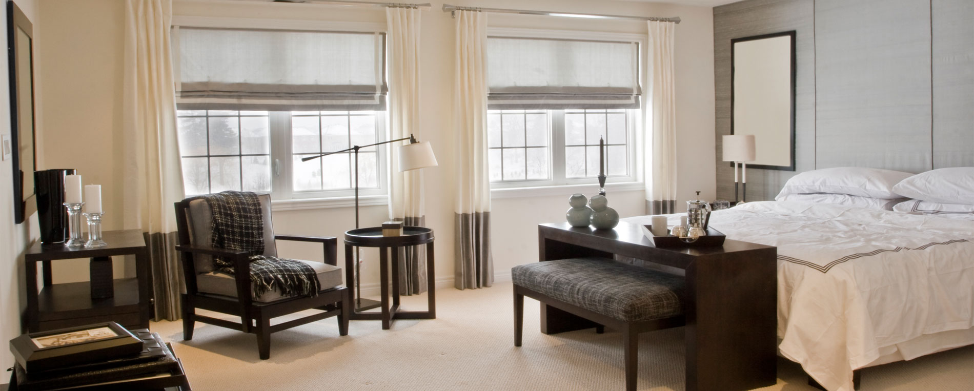 Woven Shades | Motorized Roman Blinds